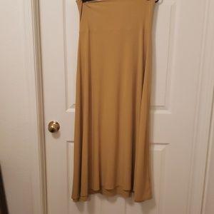 Mustard yellow maxi skirt